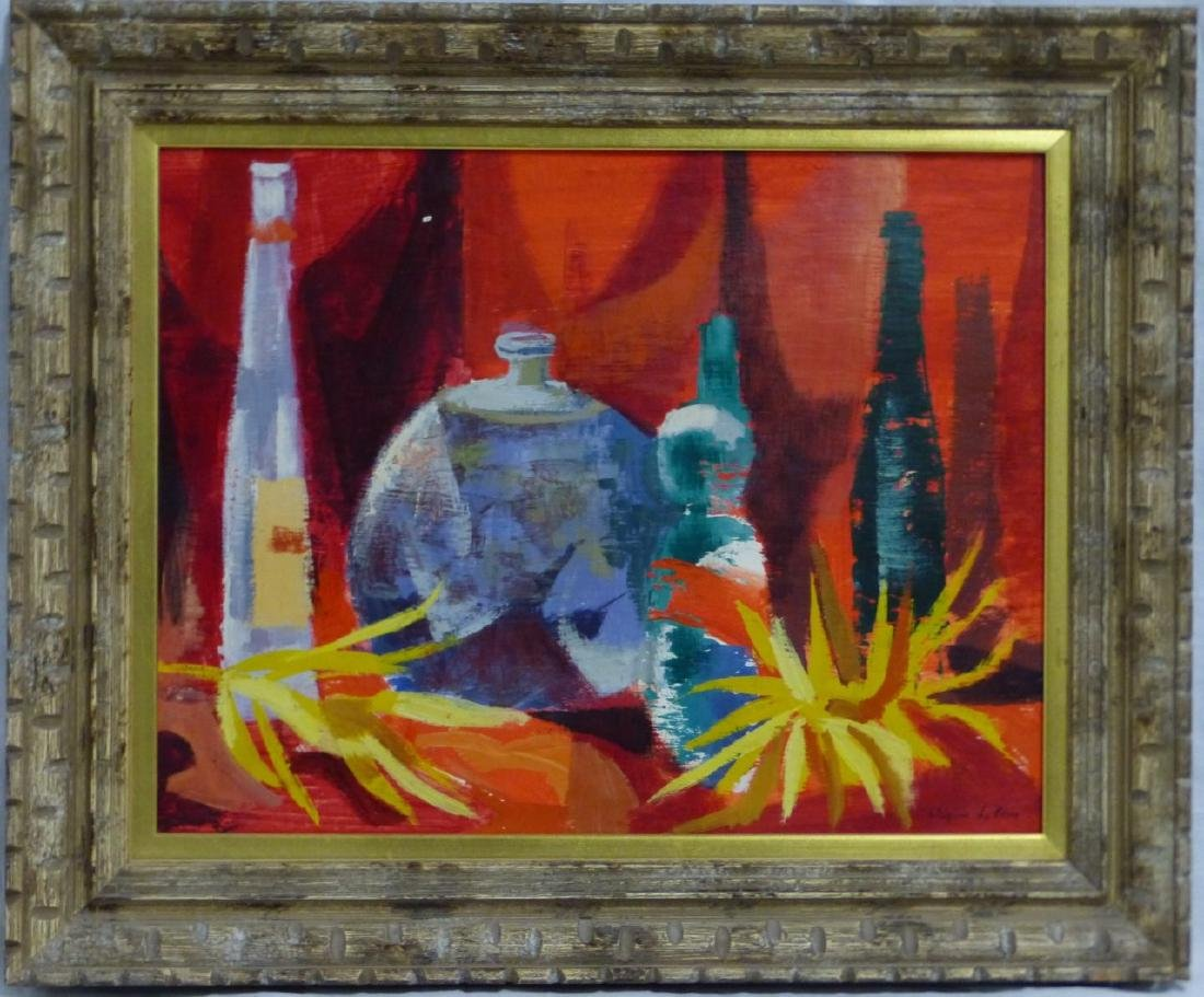WAYNE LA COM STILL LIFE OIL PAINTING ON BOARD