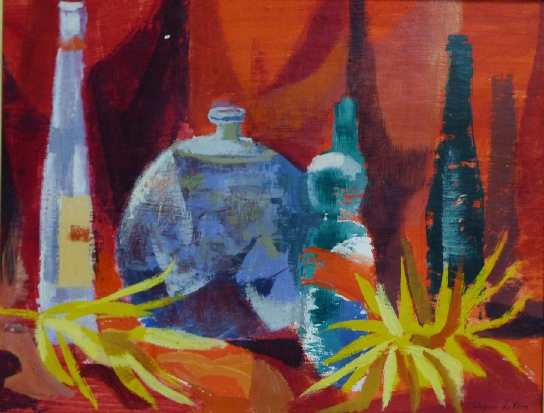 WAYNE LA COM STILL LIFE OIL PAINTING ON BOARD - 2