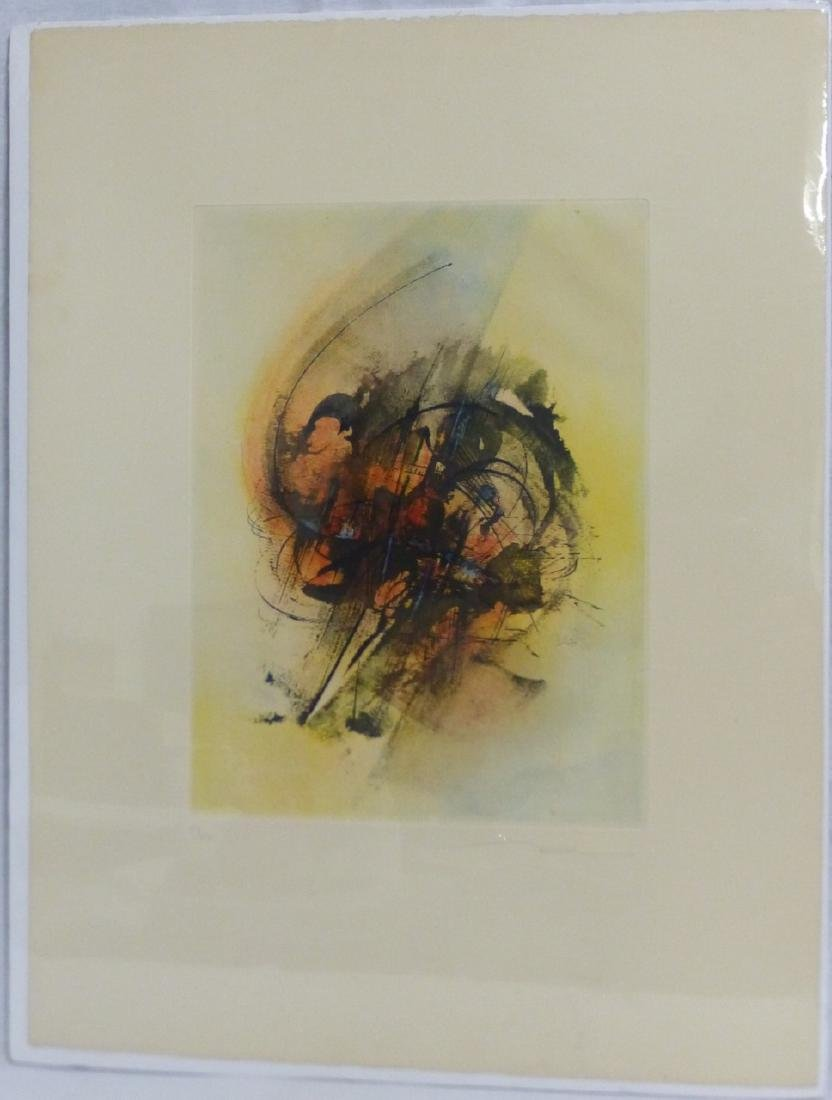 LEONARDO NIERMAN COLOR ETCHING SIGNED