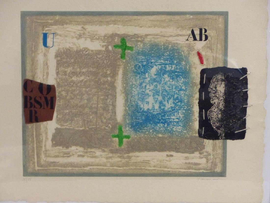 JAMES COIGNARD ETCHING WITH COLLAGE SIGNED - 2