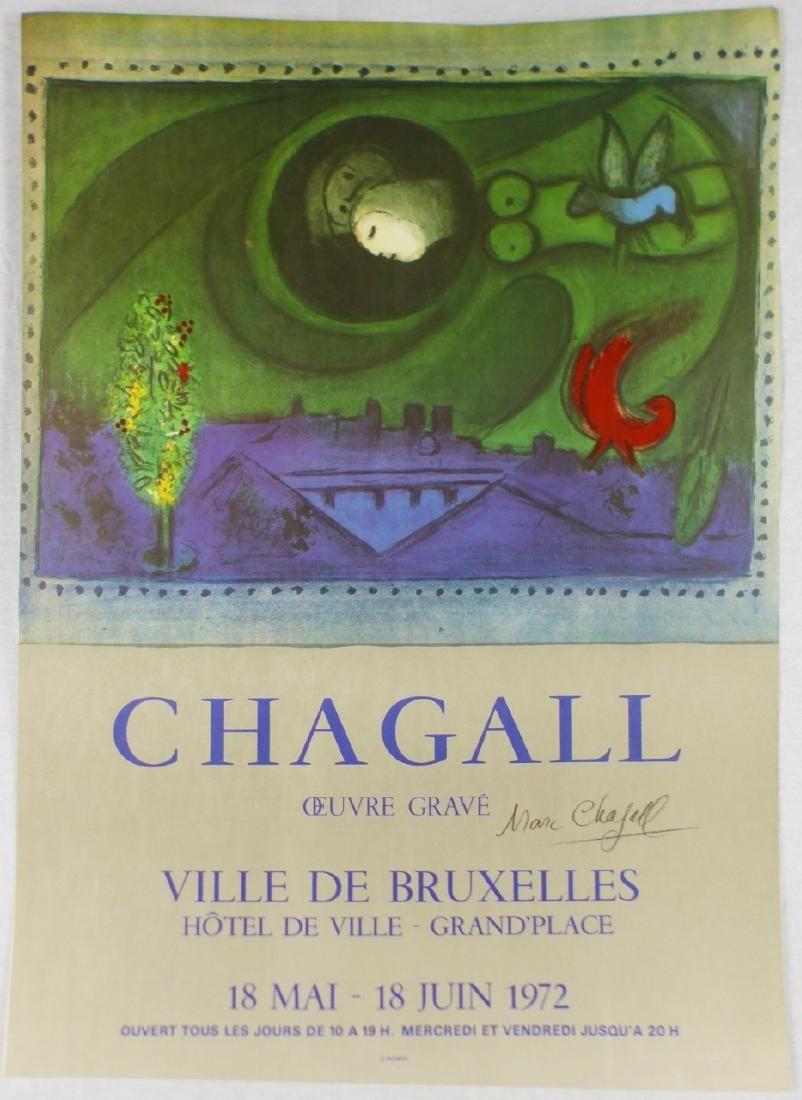 MARC CHAGALL VILLE DE BRUXELLES LITHOGRAPH SIGNED