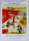 MARC CHAGALL 'LES PEINTRES' LITHOGRAPH SIGNED