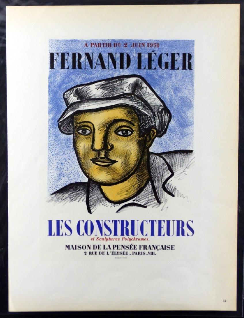 3pc FERNAND LEGER OFFSET LITHOGRAPHS - 2