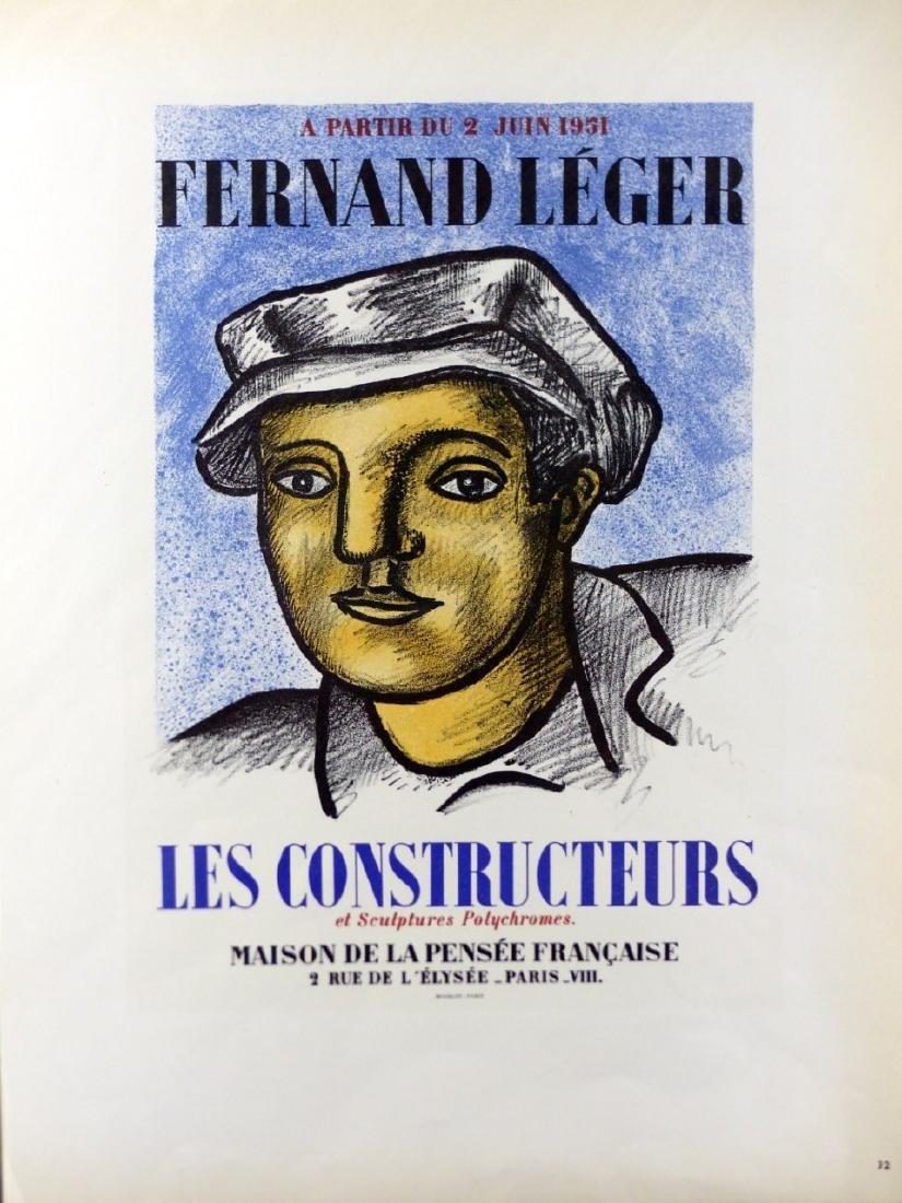 3pc FERNAND LEGER OFFSET LITHOGRAPHS - 3