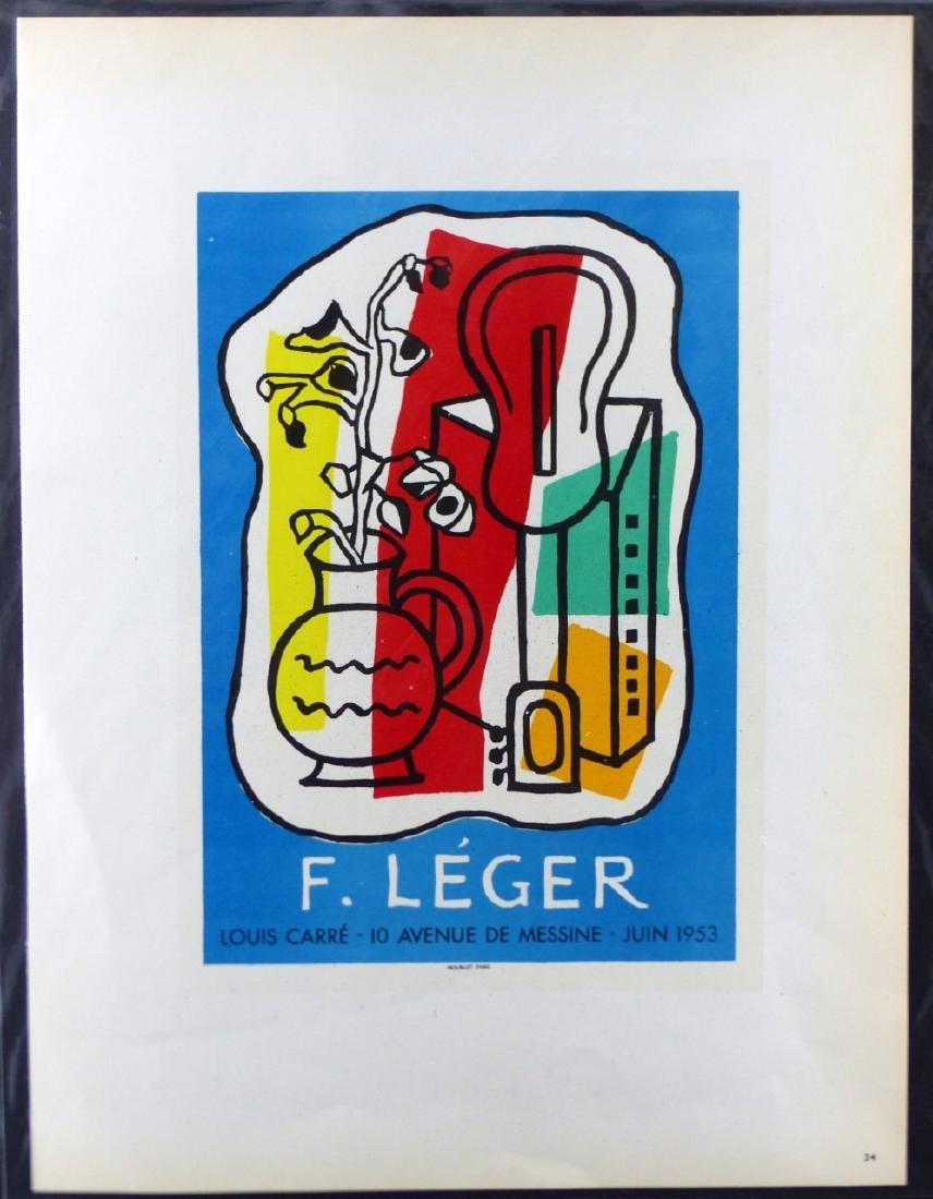 3pc FERNAND LEGER OFFSET LITHOGRAPHS - 4
