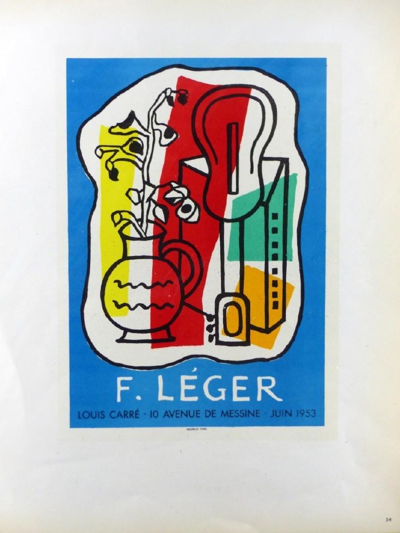3pc FERNAND LEGER OFFSET LITHOGRAPHS - 5