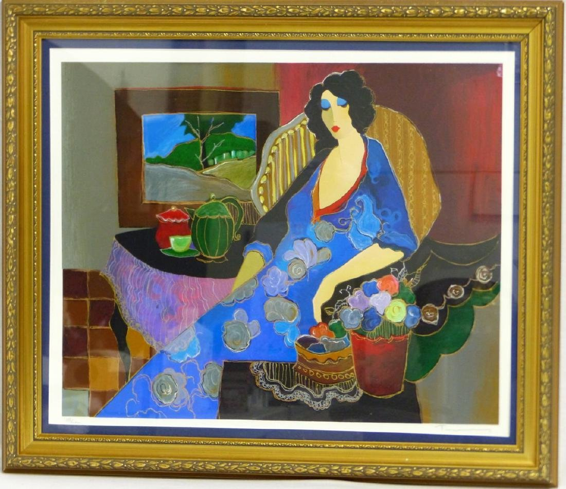 ITZACH TARKAY SERIGRAPH OF SEATED LADY
