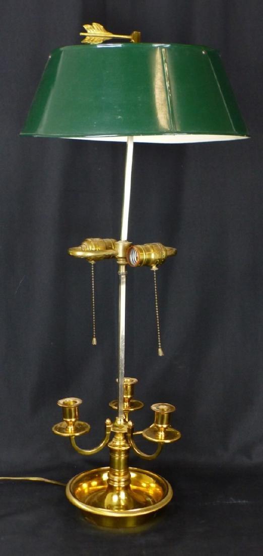 BRASS 3-ARM CANDELABRA LAMP