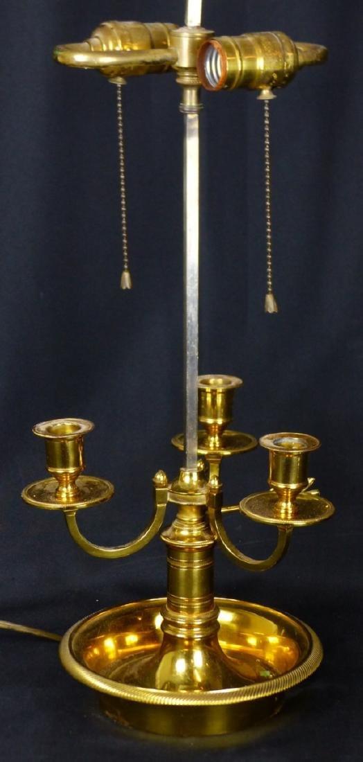 BRASS 3-ARM CANDELABRA LAMP - 2