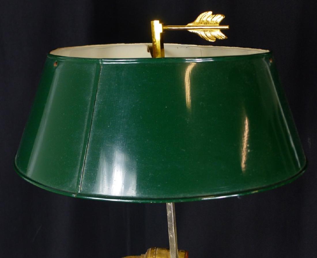 BRASS 3-ARM CANDELABRA LAMP - 6