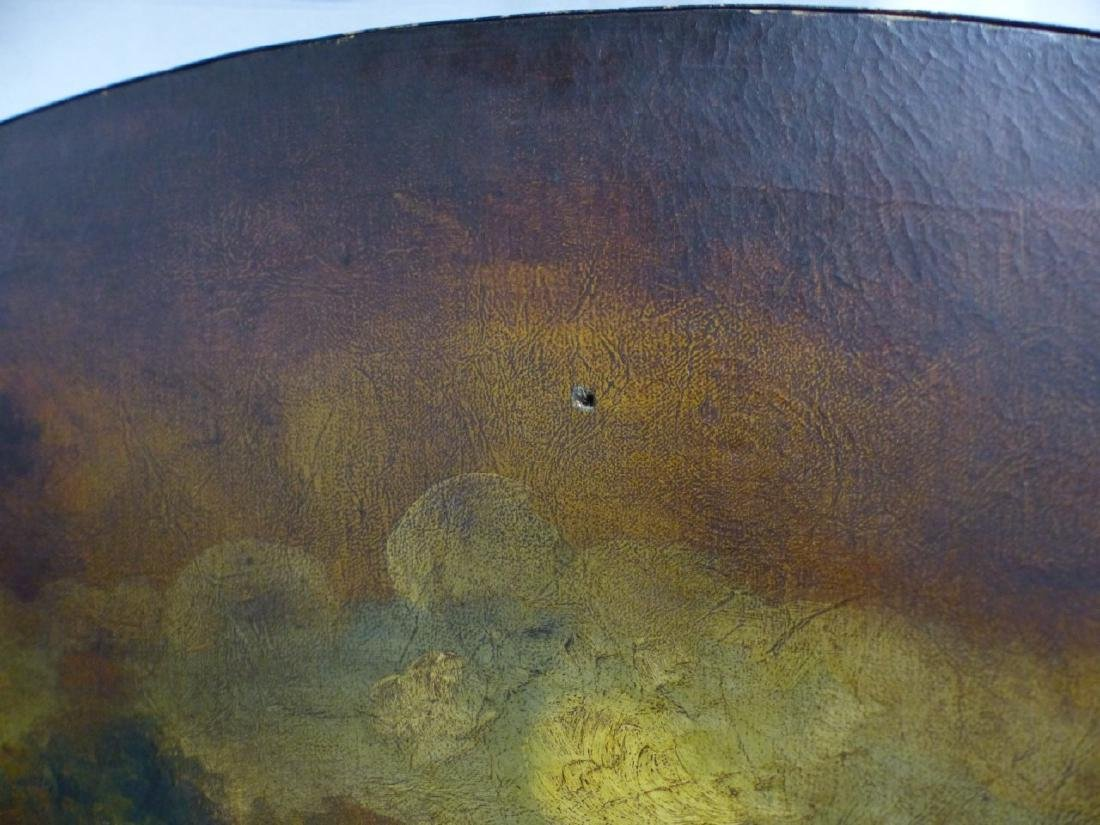 ANTIQUE HAND PAINTED 3-PANEL FIREPLACE SCREEN - 4