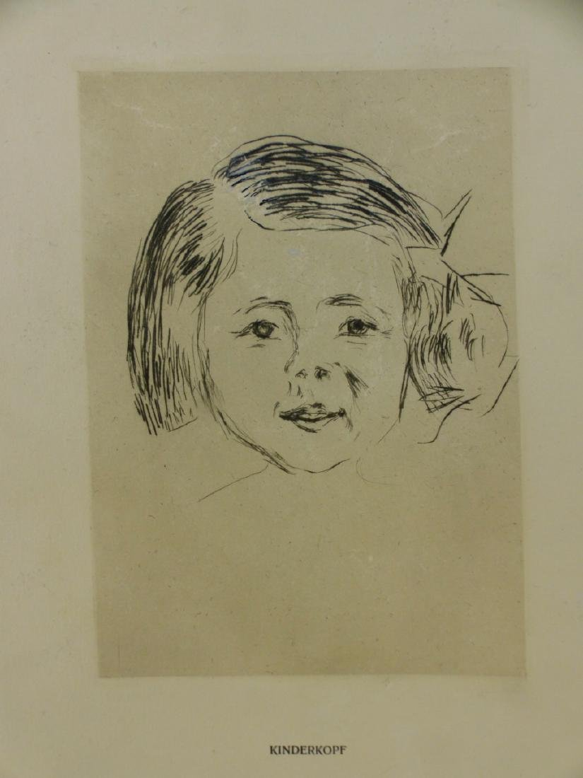 EDVARD MUNCH 'KINDERKOPF' ETCHING - 6