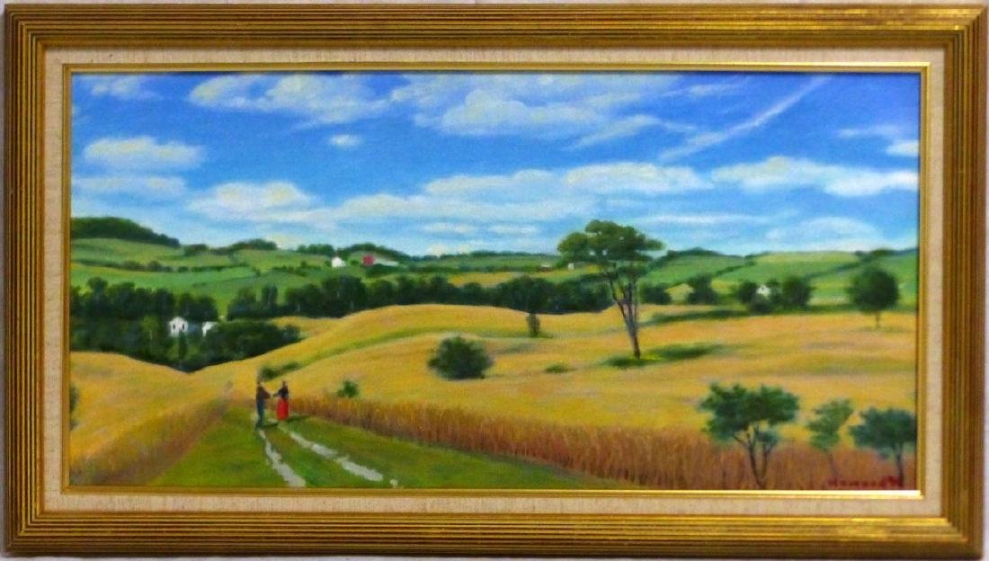 3pc FRANKLIN HOWARD OIL PAINTINGS OF LANDSCAPES