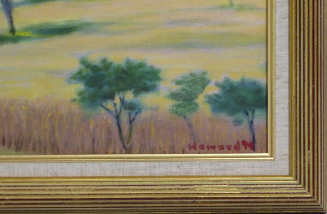 3pc FRANKLIN HOWARD OIL PAINTINGS OF LANDSCAPES - 3