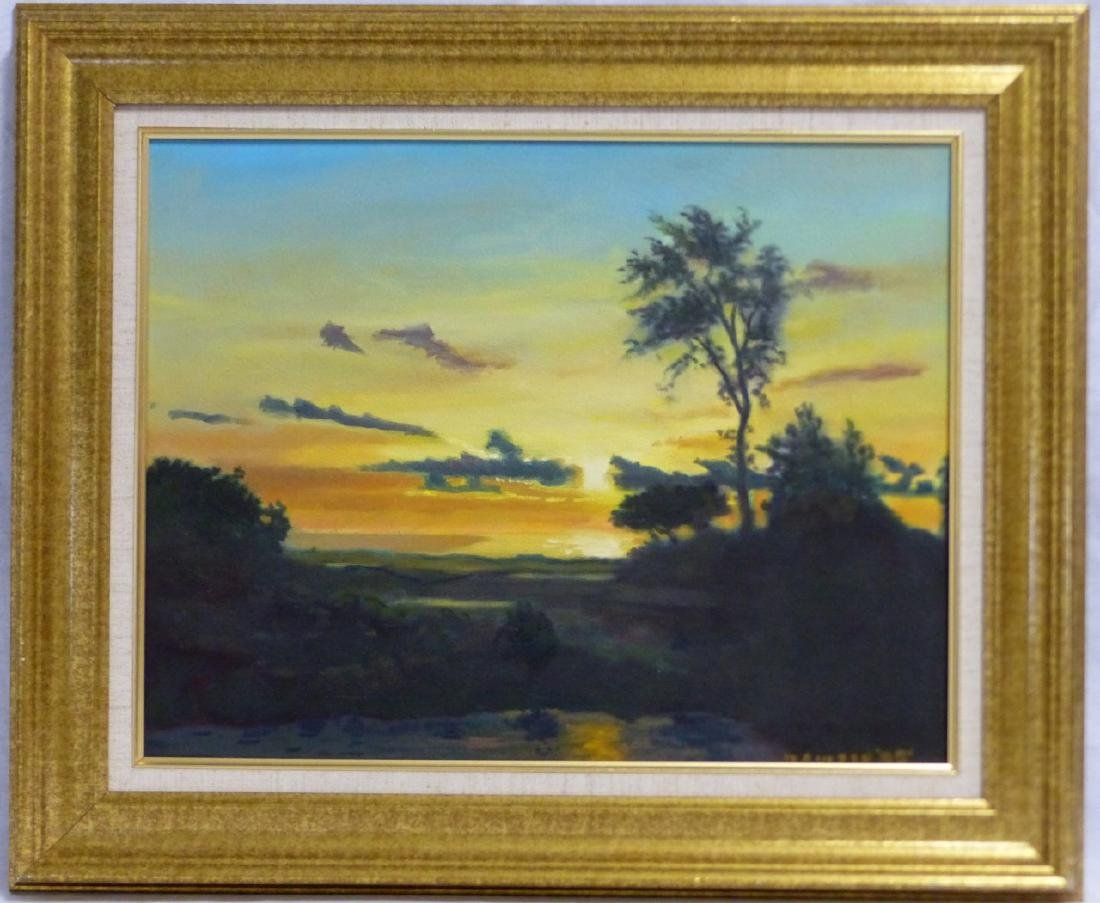 3pc FRANKLIN HOWARD OIL PAINTINGS OF LANDSCAPES - 7