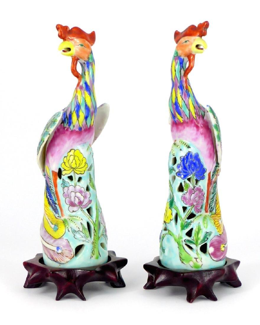 PR CHINESE PORCELAIN PHOENIX BIRDS