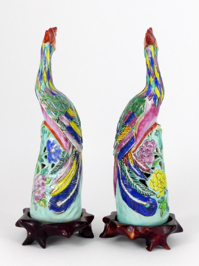 PR CHINESE PORCELAIN PHOENIX BIRDS - 3
