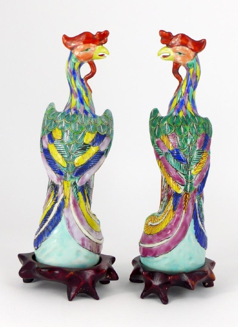 PR CHINESE PORCELAIN PHOENIX BIRDS - 5