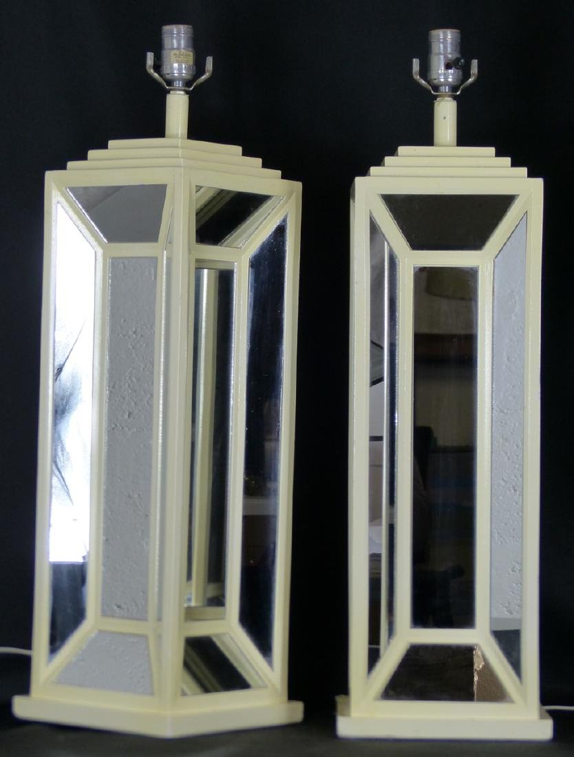 PR MID-CENTURY MIRRORED TABLE LAMPS - 3