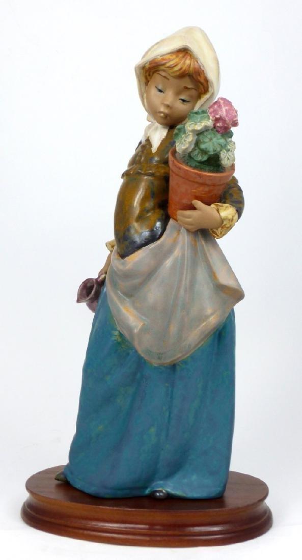 LLADRO 'GIRL WITH GERANIUM' PORCELAIN FIGURINE - 5