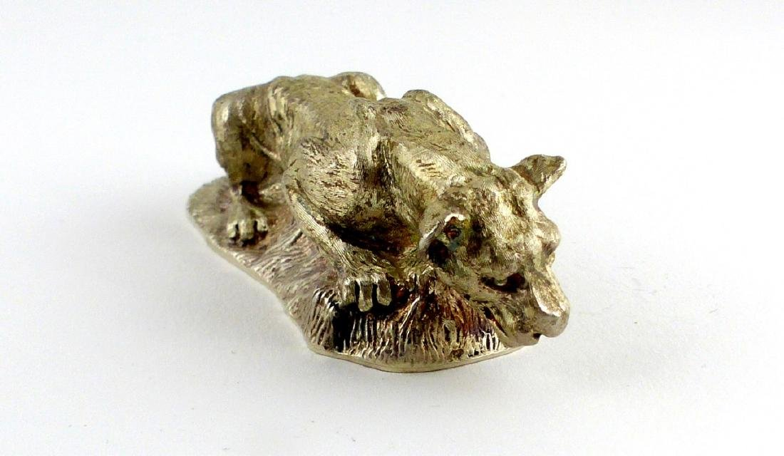 TIFFANY & CO STERLING SILVER LIONESS PAPERWEIGHT - 2