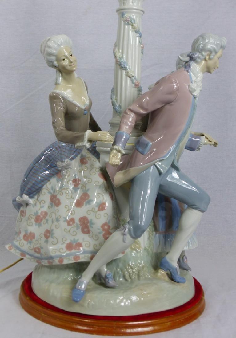 LLADRO 'LA TARANTELA' LARGE FIGURAL PORCELAIN LAMP - 6