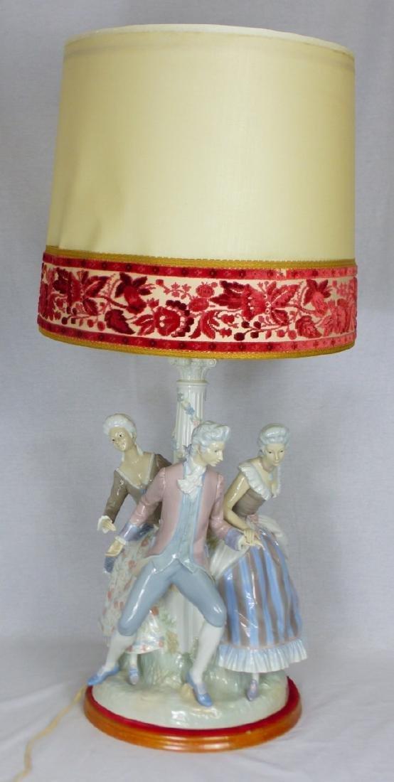LLADRO 'LA TARANTELA' LARGE FIGURAL PORCELAIN LAMP - 7