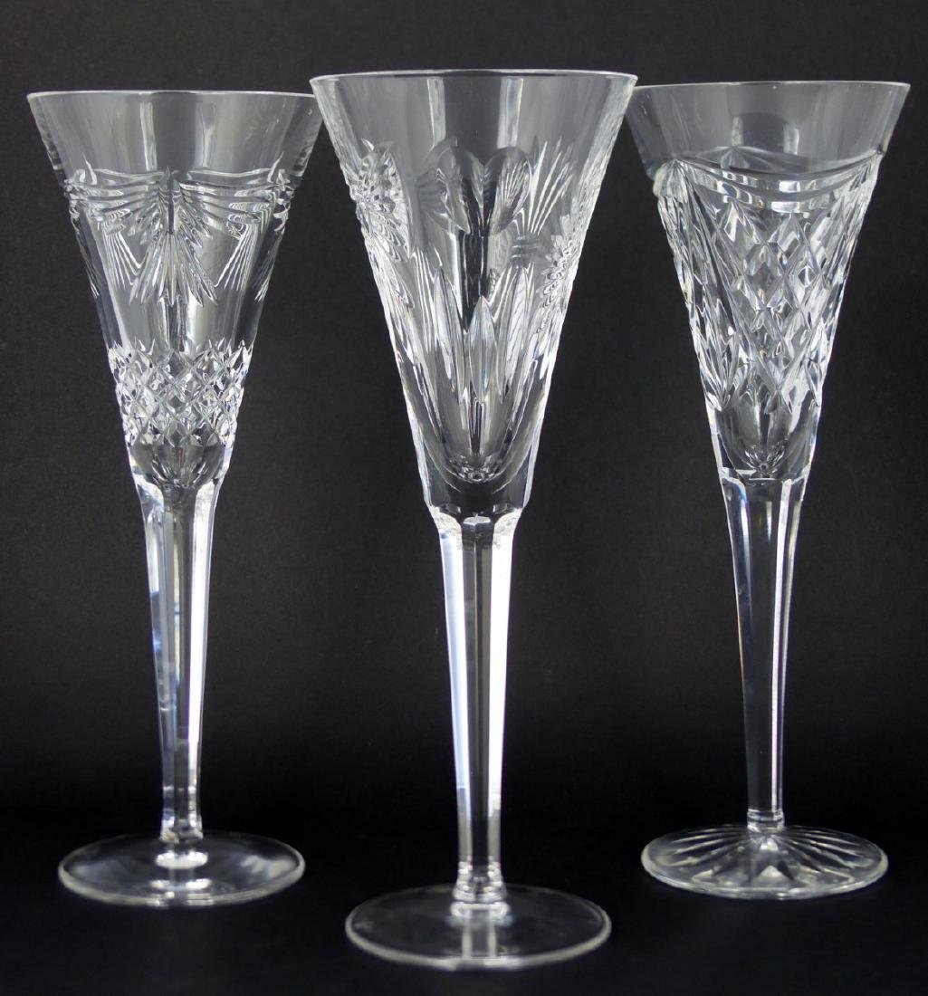 9pc WATERFORD MILLENIUM SERIES FLUTED CHAMPAGNES - 4
