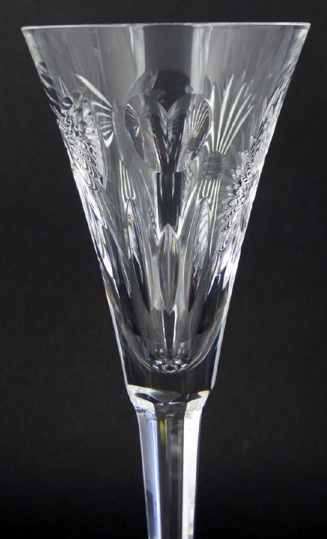 9pc WATERFORD MILLENIUM SERIES FLUTED CHAMPAGNES - 5
