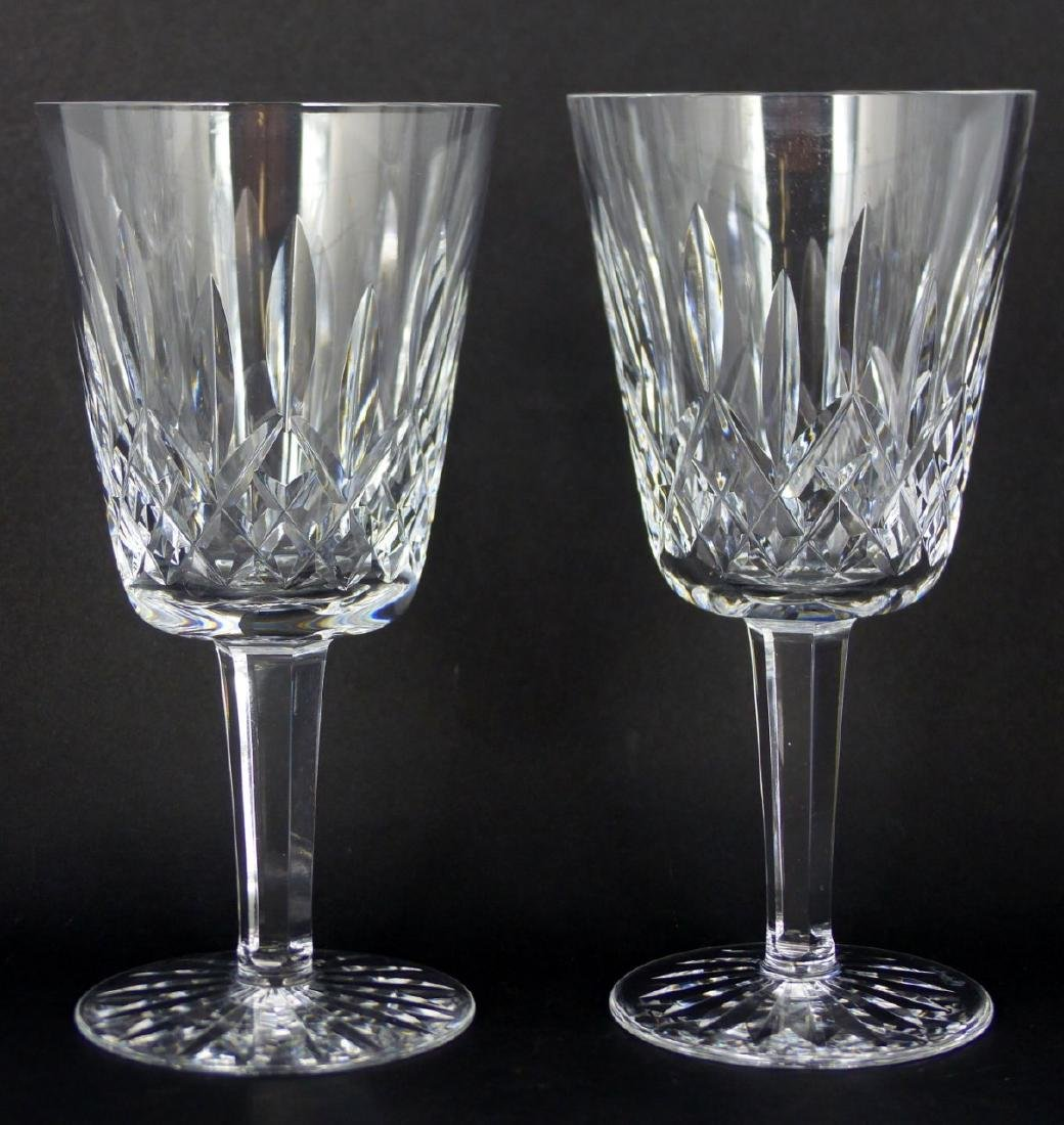 6pc WATERFORD LISMORE CRYSTAL WATER GOBLETS - 5