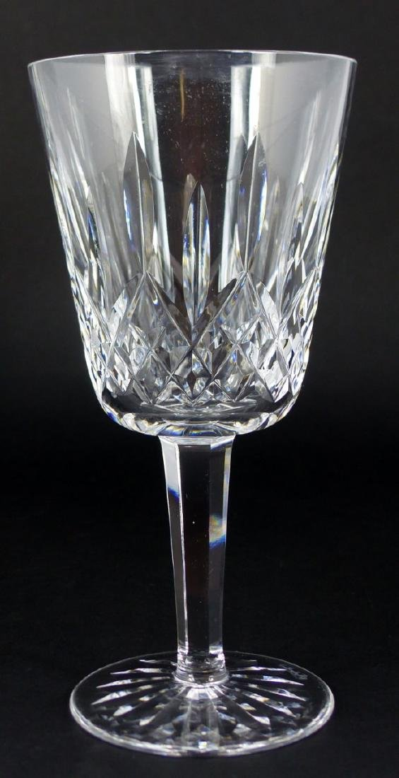 6pc WATERFORD LISMORE CRYSTAL WATER GOBLETS - 6