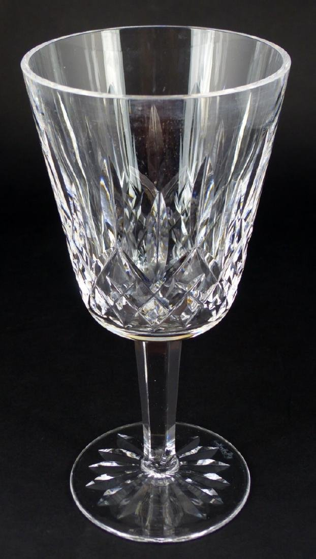 6pc WATERFORD LISMORE CRYSTAL WATER GOBLETS - 7