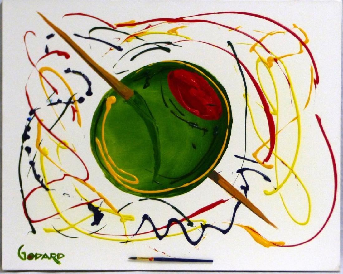 MICHAEL GODARD 'OLIVE' ACRYLIC ON CANVAS