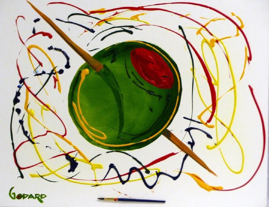MICHAEL GODARD 'OLIVE' ACRYLIC ON CANVAS - 2