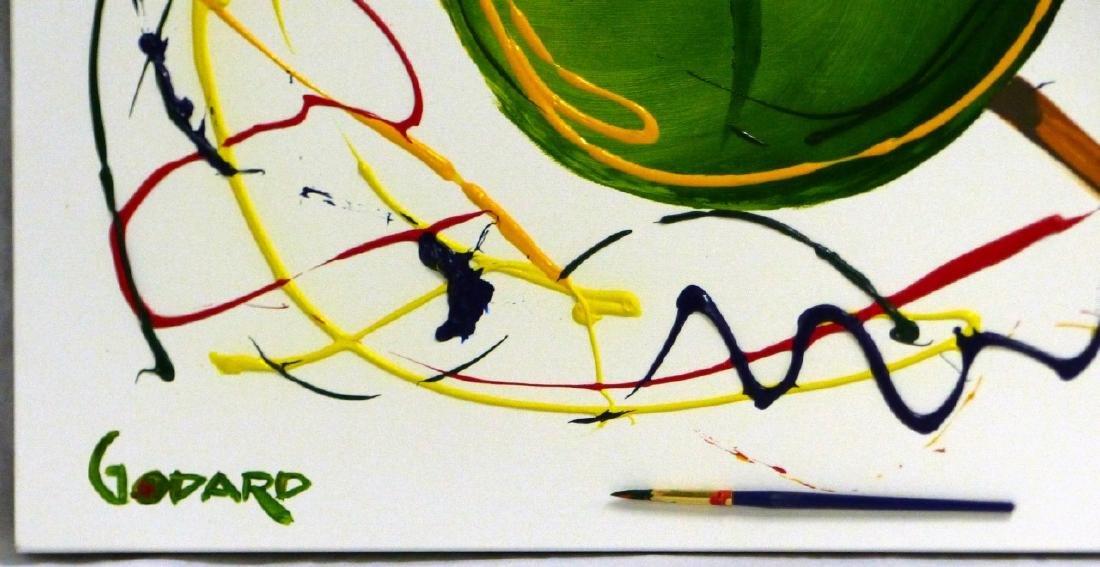 MICHAEL GODARD 'OLIVE' ACRYLIC ON CANVAS - 3