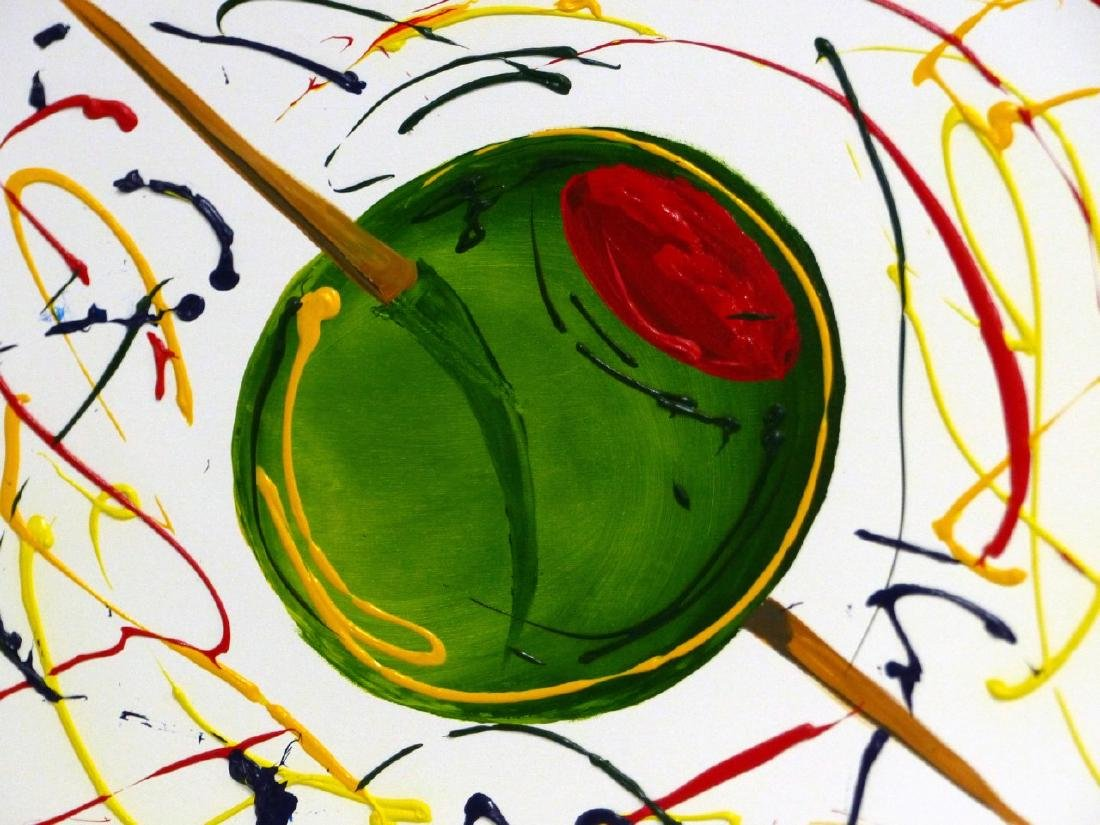 MICHAEL GODARD 'OLIVE' ACRYLIC ON CANVAS - 4