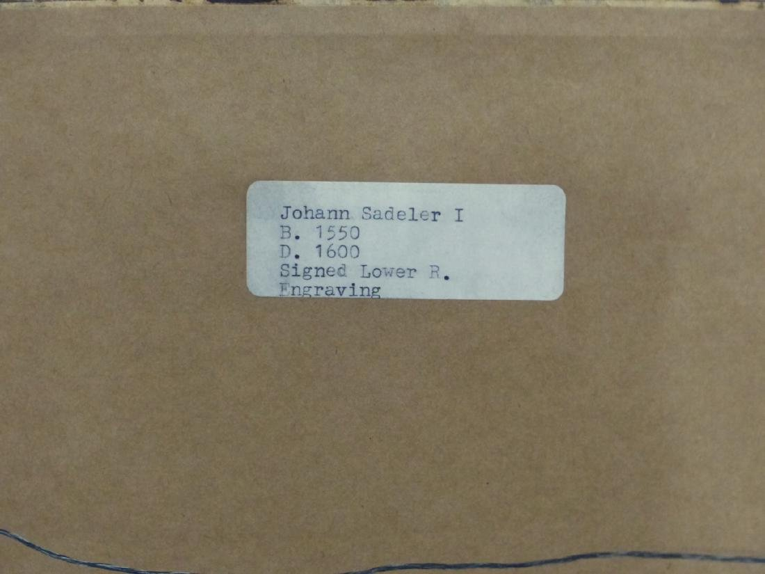 JOHANN SADELER ENGRAVING - 4