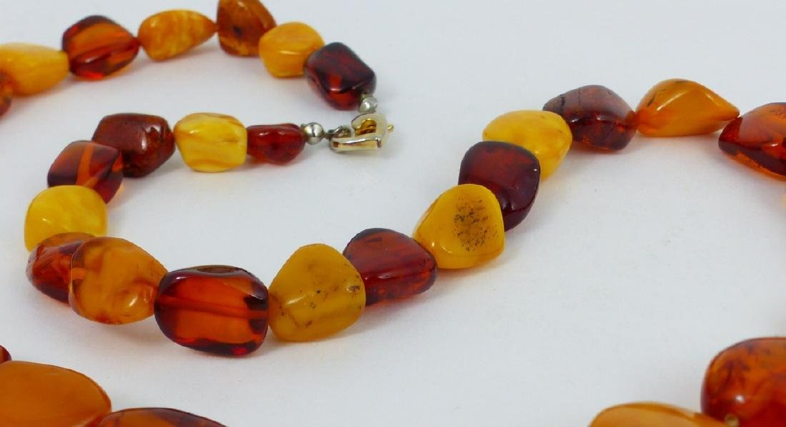 2pc SCARAB BRACELET & FAUX AMBER BEADED NECKLACE - 4