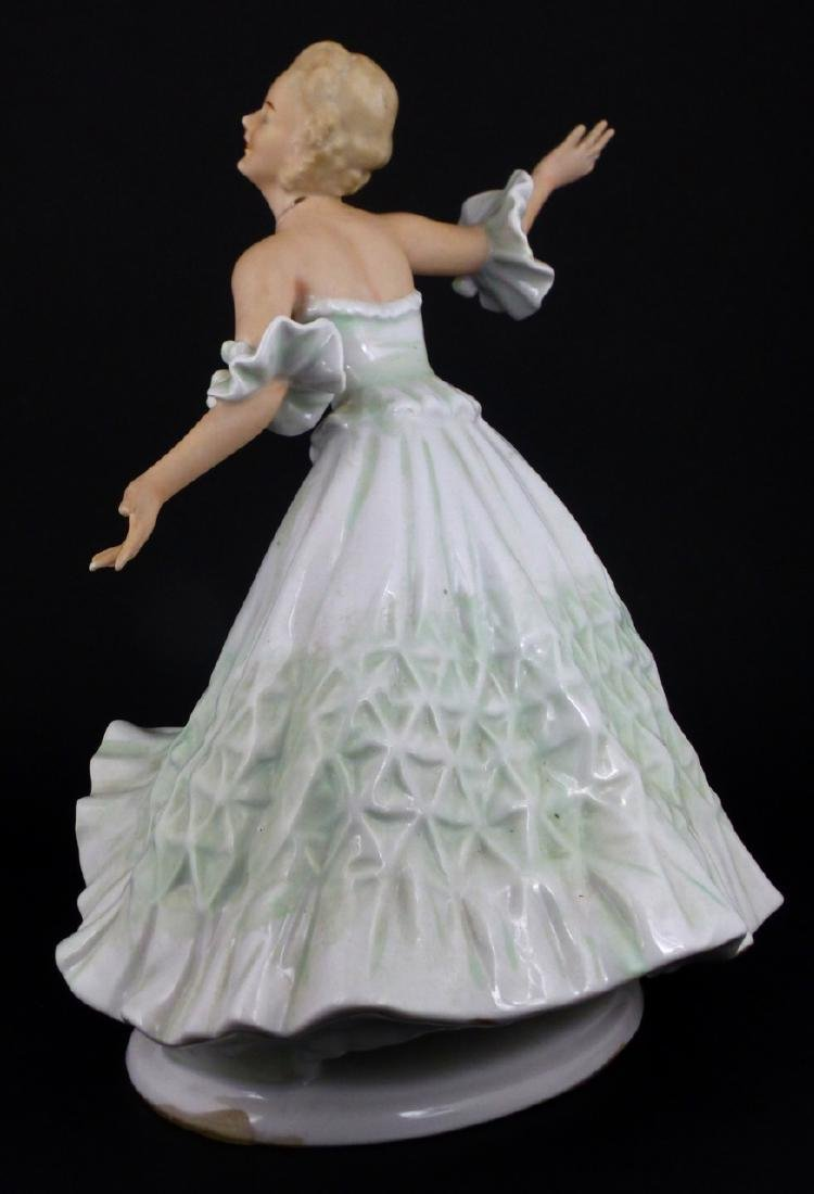 WALLENDORF WOMAN DANCING PORCELAIN FIGURINE - 2