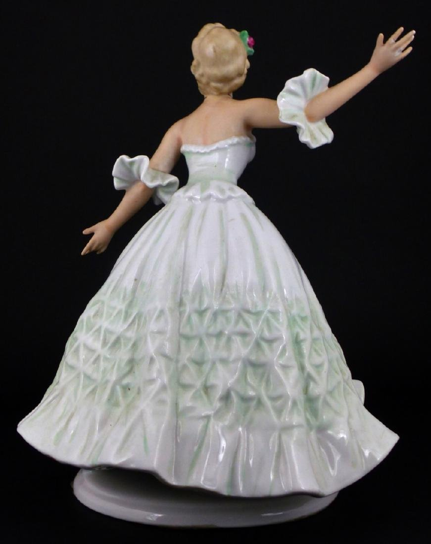 WALLENDORF WOMAN DANCING PORCELAIN FIGURINE - 3