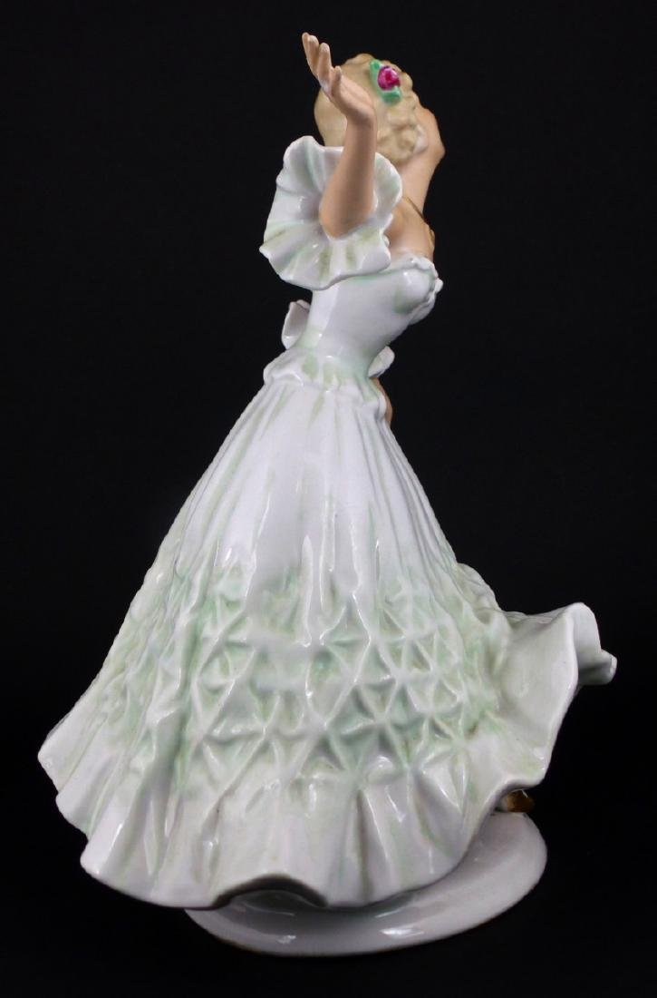 WALLENDORF WOMAN DANCING PORCELAIN FIGURINE - 4