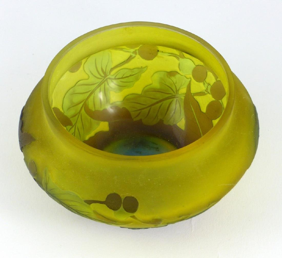 GALLE FRENCH CAMEO ART GLASS BOWL - 2