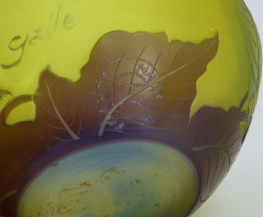 GALLE FRENCH CAMEO ART GLASS BOWL - 3