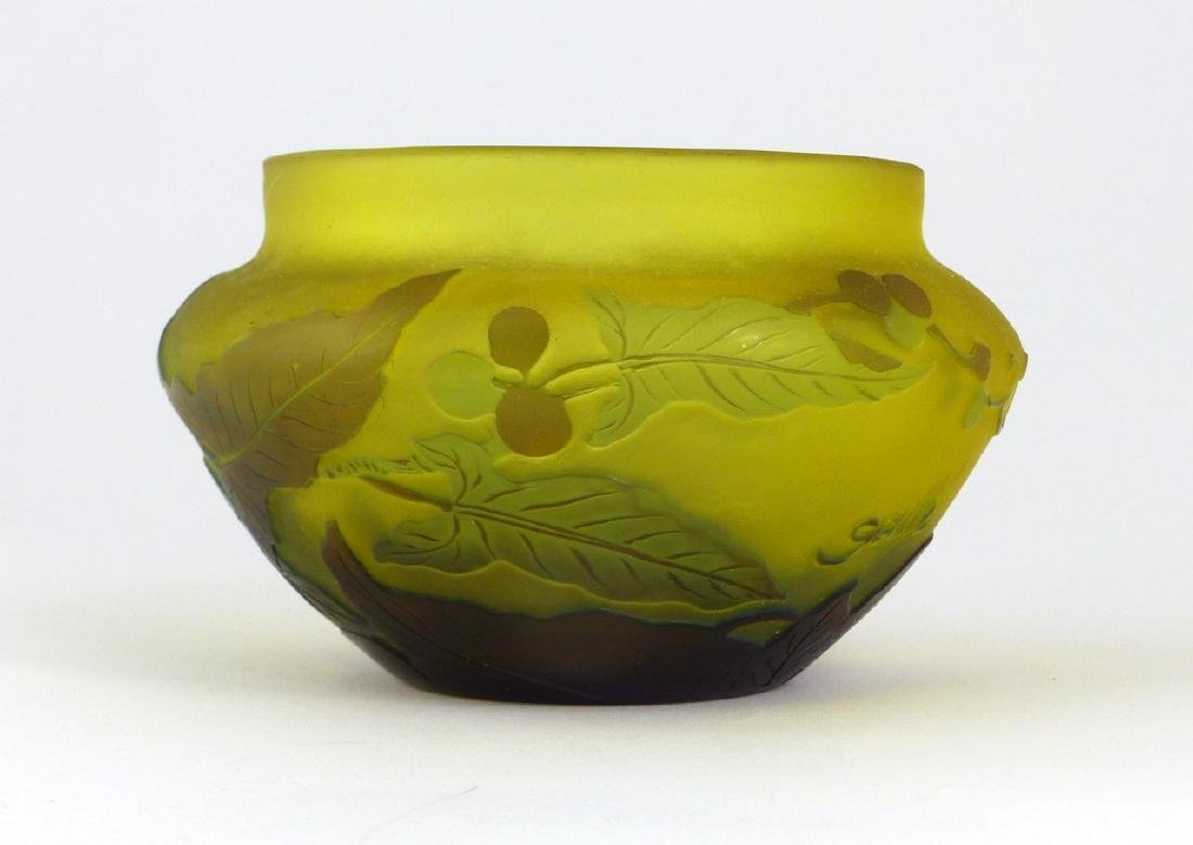 GALLE FRENCH CAMEO ART GLASS BOWL - 4
