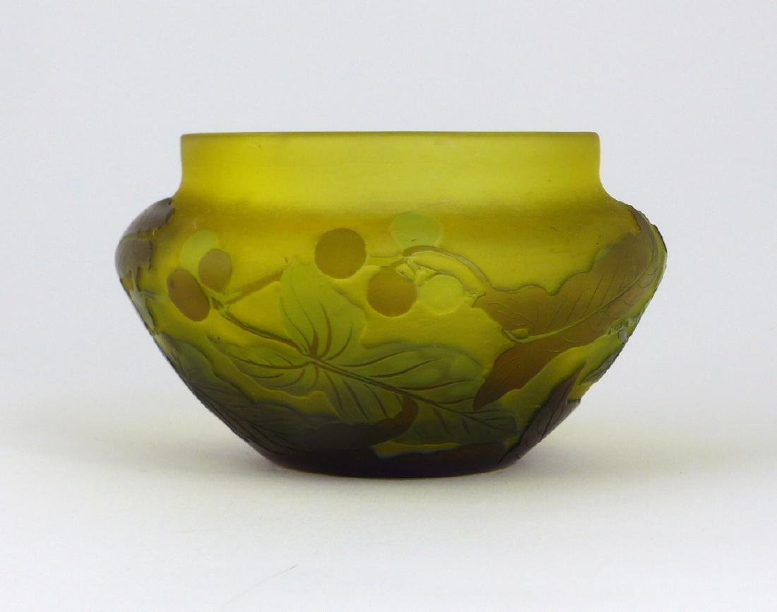 GALLE FRENCH CAMEO ART GLASS BOWL - 5