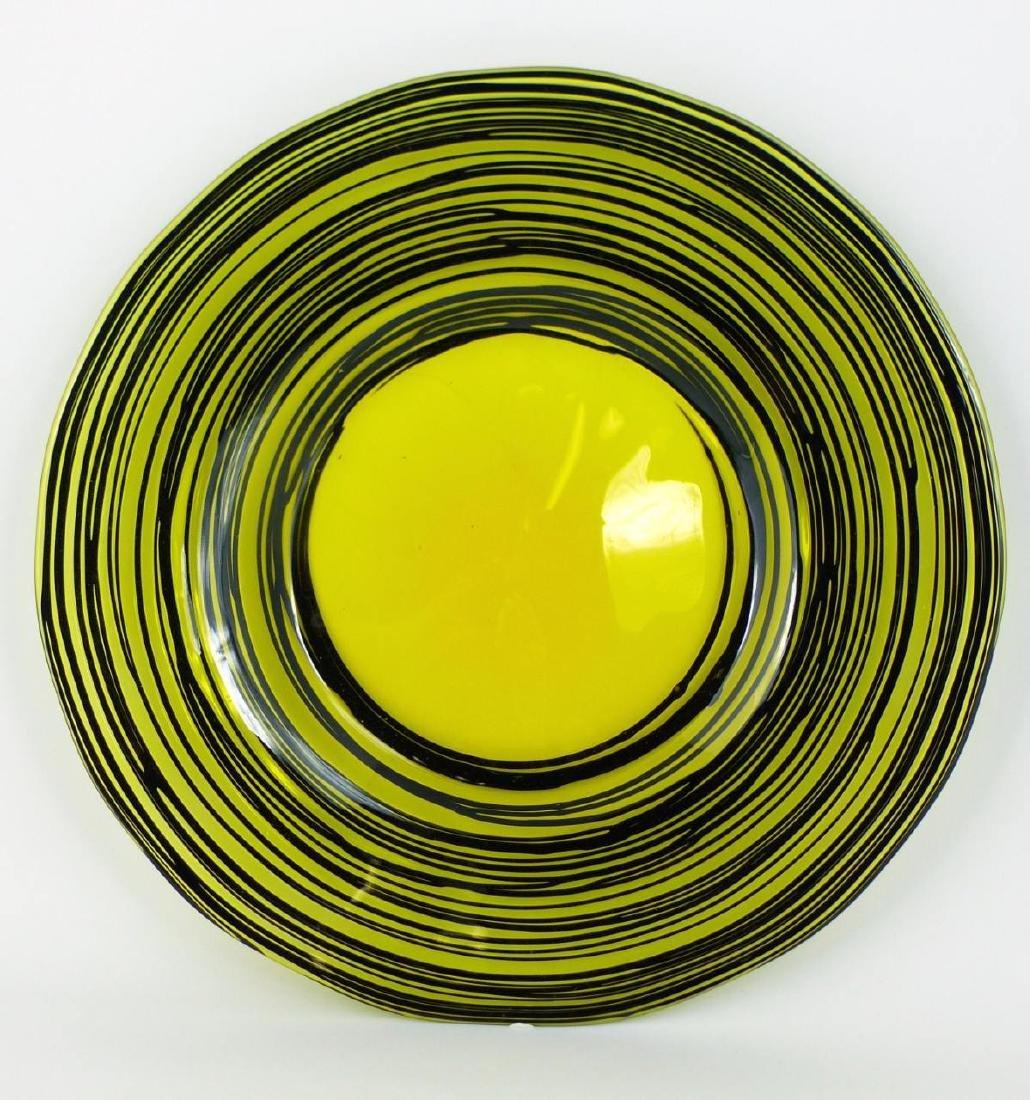 STEUBEN THREADED ART GLASS PLATE