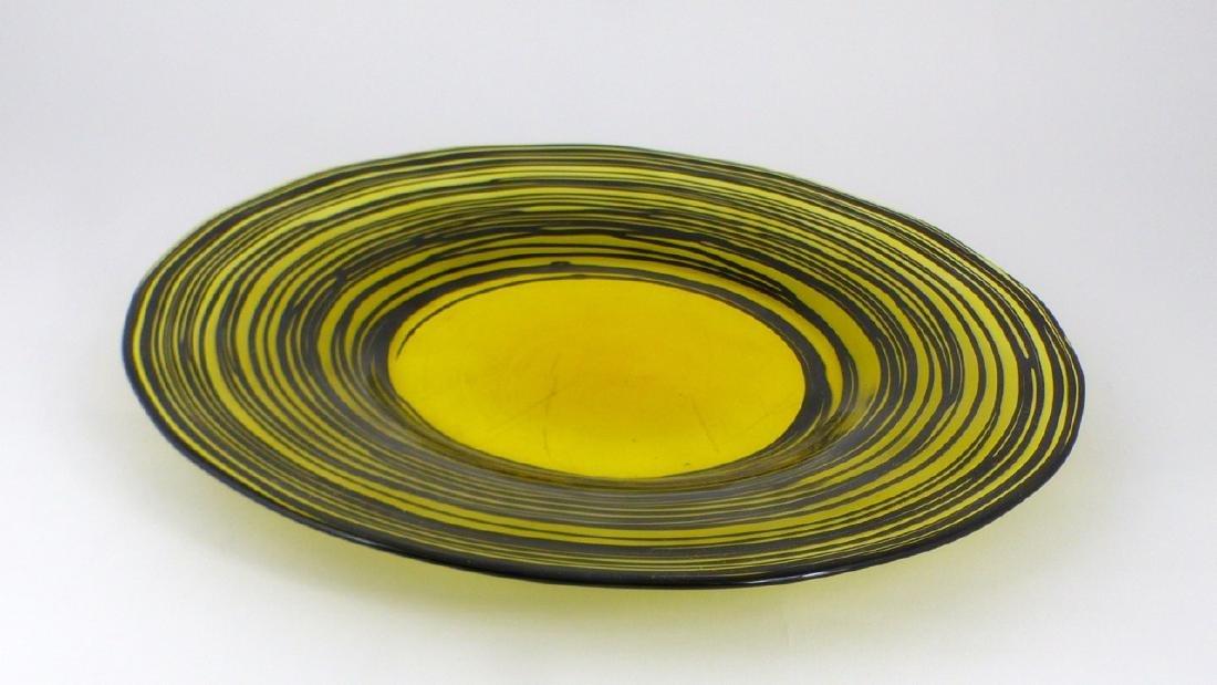 STEUBEN THREADED ART GLASS PLATE - 2