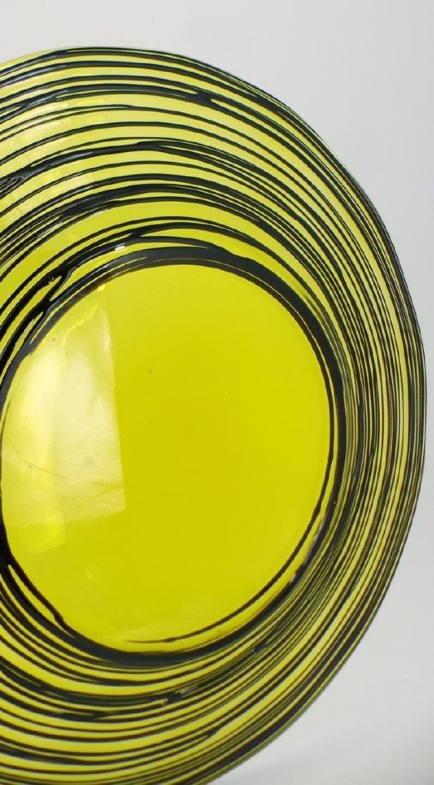 STEUBEN THREADED ART GLASS PLATE - 3