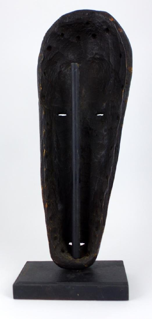 AFRICAN TRIBAL CARVED WOODEN MASK - 3
