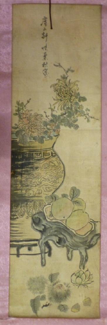 CHINESE WATERCOLOR PAINTING SCROLL
